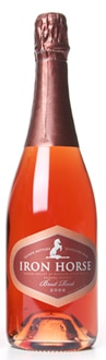 Pair Iron Horse 2007 Brut Rosé with similarly colored foods like salmon, shrimp, lobster and rainbow trout