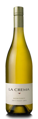 La Crema 2013 Monterey Pinot Gris displays lemon and melon flavors with a generous minerality