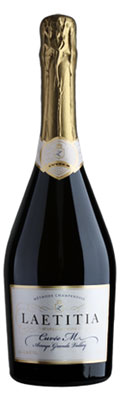 Laetitia 2010 Cuvée M opens with aromas of lime and yeast