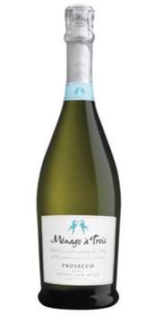 The Ménage à Trois Prosecco is flirty in both name and taste