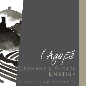 Domaine Agape Cremant d'Alsace is both sustainable and delicious