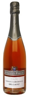Simonnet-Febvre Cremant Brut Rose, one of our Top 10 Sparkling Wines 2011, offers fresh strawberry and raspberry flavors with a hint of creamy mousse on the lingering finish