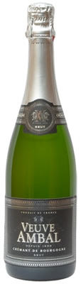 Veuve Ambal Cremant de Bourgogne Brut is made using hand-harvested grapes in Burgundy, France
