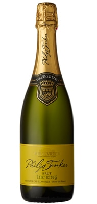 "The first bottle of Weltevrede 2009 Philip Jonker Brut ""The Ring"" was opened on the winemaker's wedding day"