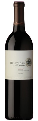 Benziger 2008 Merlot is sourced from certified sustainable fruit grown in Carneros, Dry Creek and Sonoma Valley