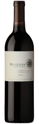 Benziger 2009 Sonoma County Cabernet Sauvignon is made from certified sustainable grapes