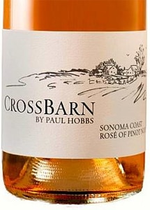 Crossbarn 2014 Rosé of Pinot Noir is delicately colored and aromatic
