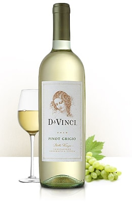 Da Vinci 2014 Pinot Grigio is crisp and floral, with a hint of minerality