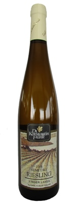 Dr. Frank's Vinifera Wine Cellars 2011 Semi-Dry Riesling features sweet apple, peach and orange blossom flavors