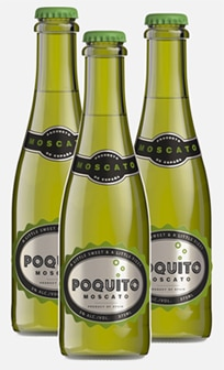 Poquito Moscato from Spain is a small bottle of sparkling Muscat