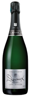 Champagne Devaux Creme de Cuvee is composed of 70 percent Pinot Noir and 30 percent Chardonnay
