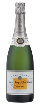 Champagne Veuve Clicquot Demi-Sec features a dosage of 45 grams per liter