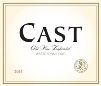 Cast Watson Vineyard 2013 Old Vine Zinfandel has notes of berry