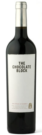A bottle of Boekenhoutskloof 2010 Chocolate Block from South Africa