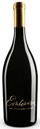 A bottle of Canihan Family Wines 2008 Exuberance Syrah from Sonoma, CA