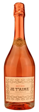 A bottle of Je T'Aime Brut Rose from Limoux, France