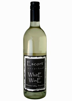 Naked Winery Escort Pinot Gris, a good wine for Valentine's Day