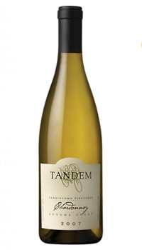 Tandem Sangiacomo Chardonnay, a good white wine for Valentine's Day