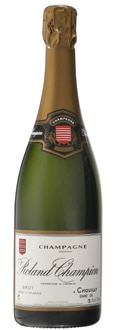 Champagne Roland Champion Brut Blanc de Blancs is aged for a minimum of 30 months