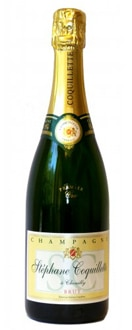 Champagne Stephane Coquillette NV Brut Carte d'Or Premier Cru offers fragrant floral aromas