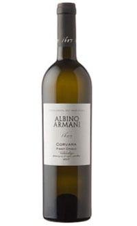 Albino Armani 2009 Corvara Pinot Grigio, on our list of the Top Value Wines
