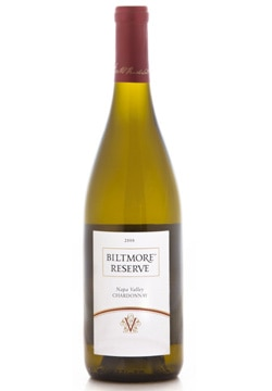 Biltmore Reserve 2008 Napa Valley Chardonnay, on our list of the Top Value Wines