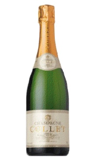 The Champagne Collet Brut Blanc de Blancs, on our list of the Top Value Wines