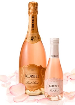 Korbel Brut Rose, on our list of the Top Value Wines