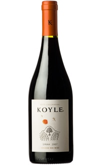The Koyle 2007 Syrah, on our list of the Top Value Wines