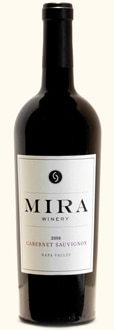 Mira Winery 2008 Cabernet Sauvignon is a full-bodied red wine from Napa Valley