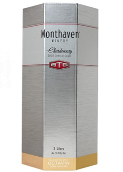 Monthaven Winery 2008 Central Coast Chardonnay in an Octavin boxed wine packaging