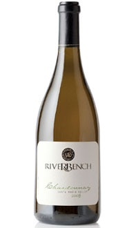 The Riverbench 2008 Estate Chardonnay, on our list of the Top Value Wines