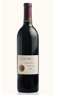 Seven Hills 2006 Columbia Valley Tempranillo, on our list of the Top Value Wines