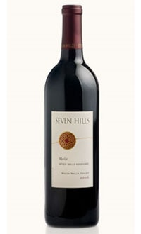 A bottle of Seven Hills 2007 Columbia Valley Merlot