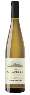 Ste Chapelle 2012 Special Harvest Riesling is a honeyed, nectar-like dessert wine