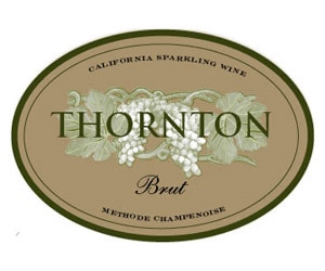 The wine label of Thornton Winery Non Vintage Brut California Sparkling Wine