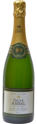 Veuve Ambal Blanc de Blancs Methode Traditionelle offers the same stone fruit flavors and lively mouthfeel found in Champagne