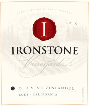 The Ironstone Vineyards Old Vine Zinfandel works well with hearty stews and tomato-based pastas