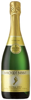 A bottle of Barefoot Bubbly Premium Extra Dry