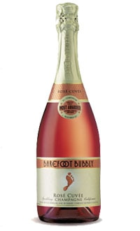 Dry cheeses, strawberries and spicy foods pair well with the Barefoot Bubbbly Rosé Cuvée
