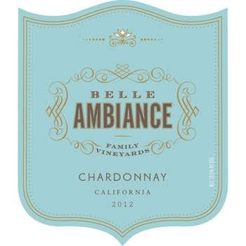The Belle Ambiance 2012 Chardonnay is aged in a combination of French and American oak