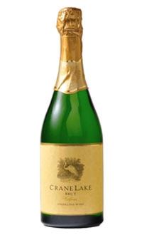 A bottle of Crane Lake Brut Sparkling Wine