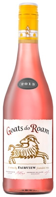 Fairview 2013 Goats do Roam Rose blend of Shiraz, Grenache, Mourvedre and Gamay Noir