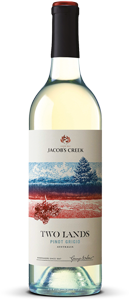 Jacob's Creek Two Lands Pinot Grigio has notes of quince and red delicious apple