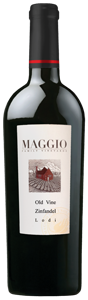 Maggio Old Vine Zinfandel has flavors of mixed berry jam with a hint of smoke