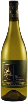The Oak Knoll 2011 Unoaked Chardonnay is fermented in stainless steel tanks and barrels