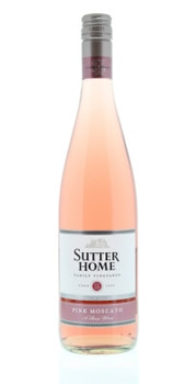 Sutter Home Pink Moscato is a blend of California rose wine and Moscato