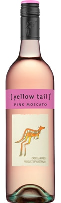 Yellow Tail NV Pink Moscato is sweet and slightly sparkling