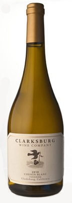 Clarksburg Wine Company 2010 Chenin Viognier is composed of 85 percent Chenin Blanc and 15 percent Viognier
