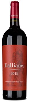 Dalliance 2012 Red Wine is aged in French and American oak